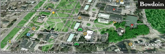 Google Earth Map (Bowdoin   About)