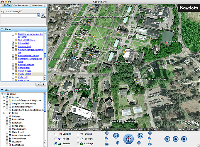 Bowdoin Campus Map Google Earth Map (Bowdoin   About)
