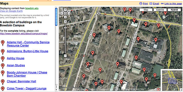 bowdoin google earth data imported into google maps